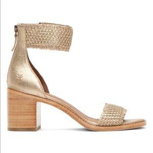 Frye Gold Bianca Sandals